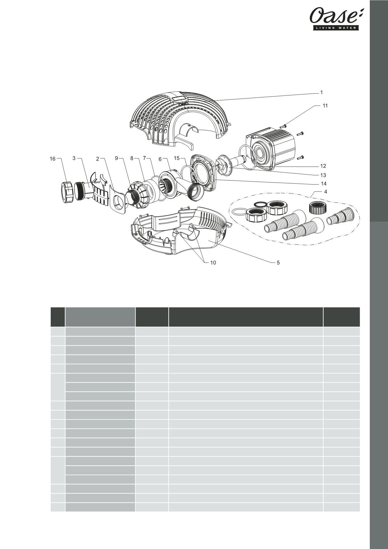 5ea68a65057ed0 OASE   Catalogue Pièces Détachées 2016 - page 47