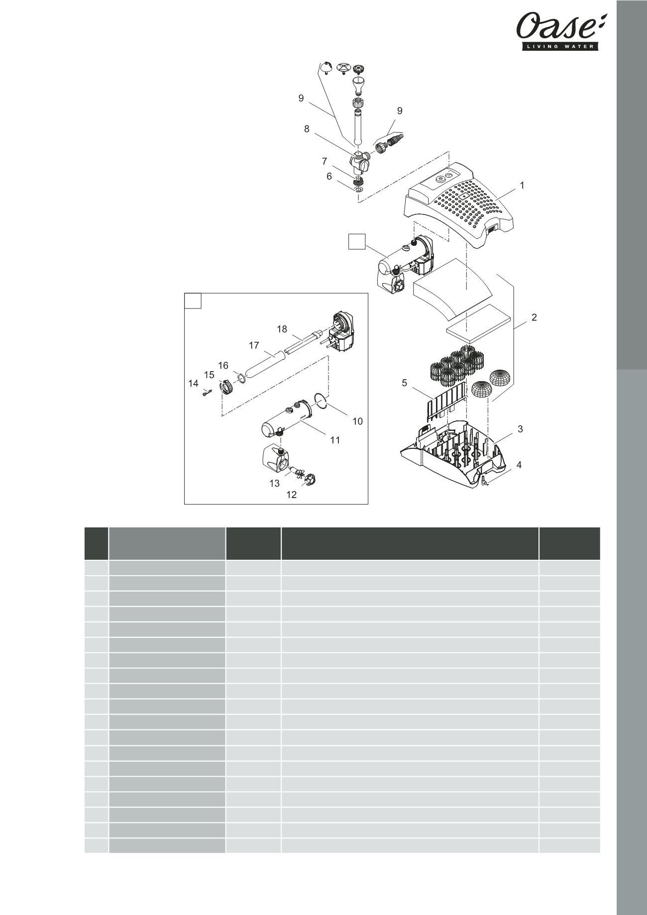 e1d2ca51926611 OASE   Catalogue Pièces Détachées 2016 - page 65